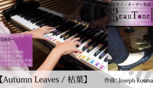 【枯葉】初級ピアノ 練習動画 公開